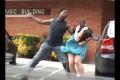 VIDEO – Draudzīgā apkaime! (Stupid guy hits girlfriend!)