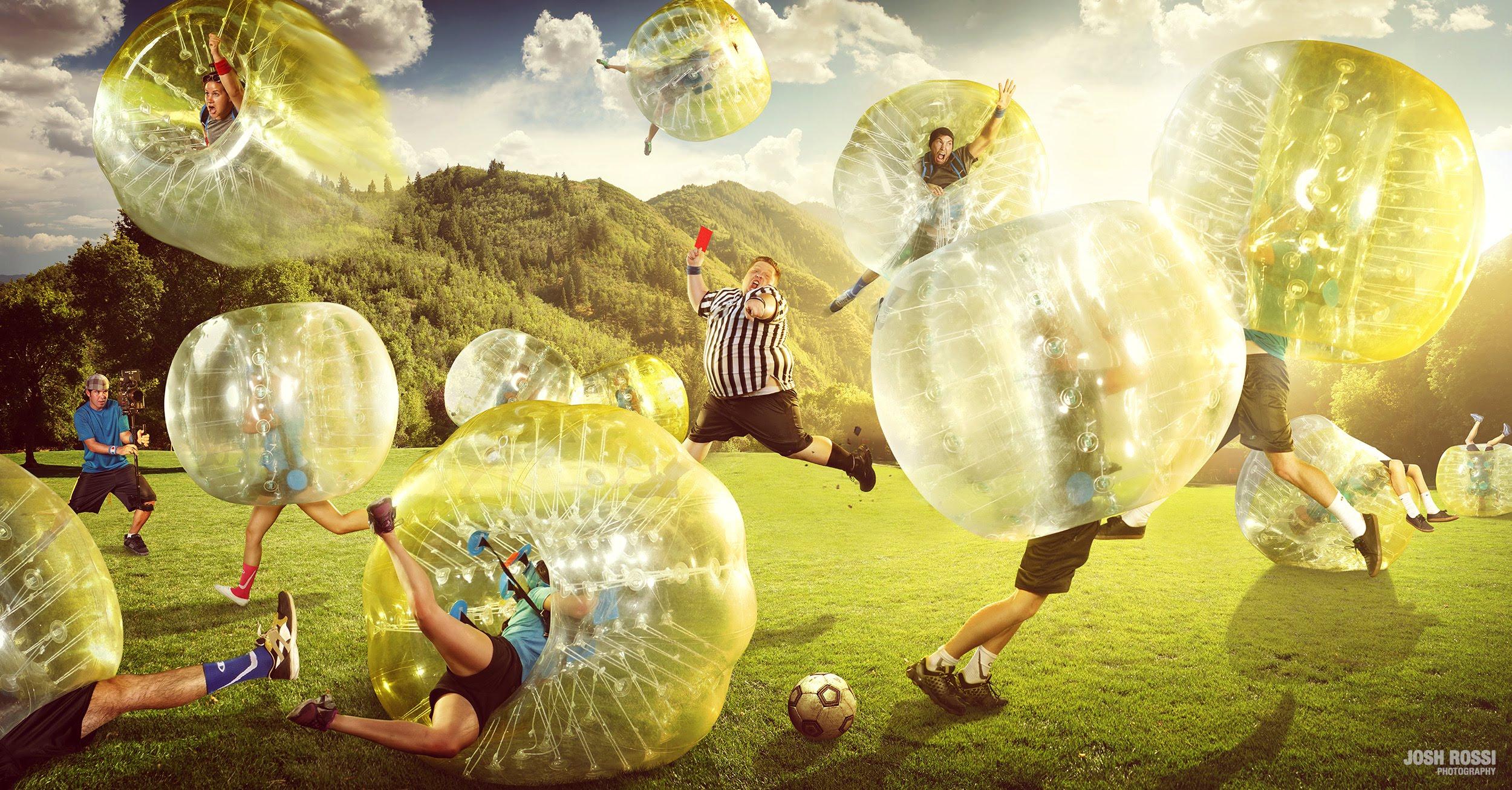 VIDEO – Neparastā futbola spēle! (Greatest Game Ever Played – Zorb Soccer with Champion)
