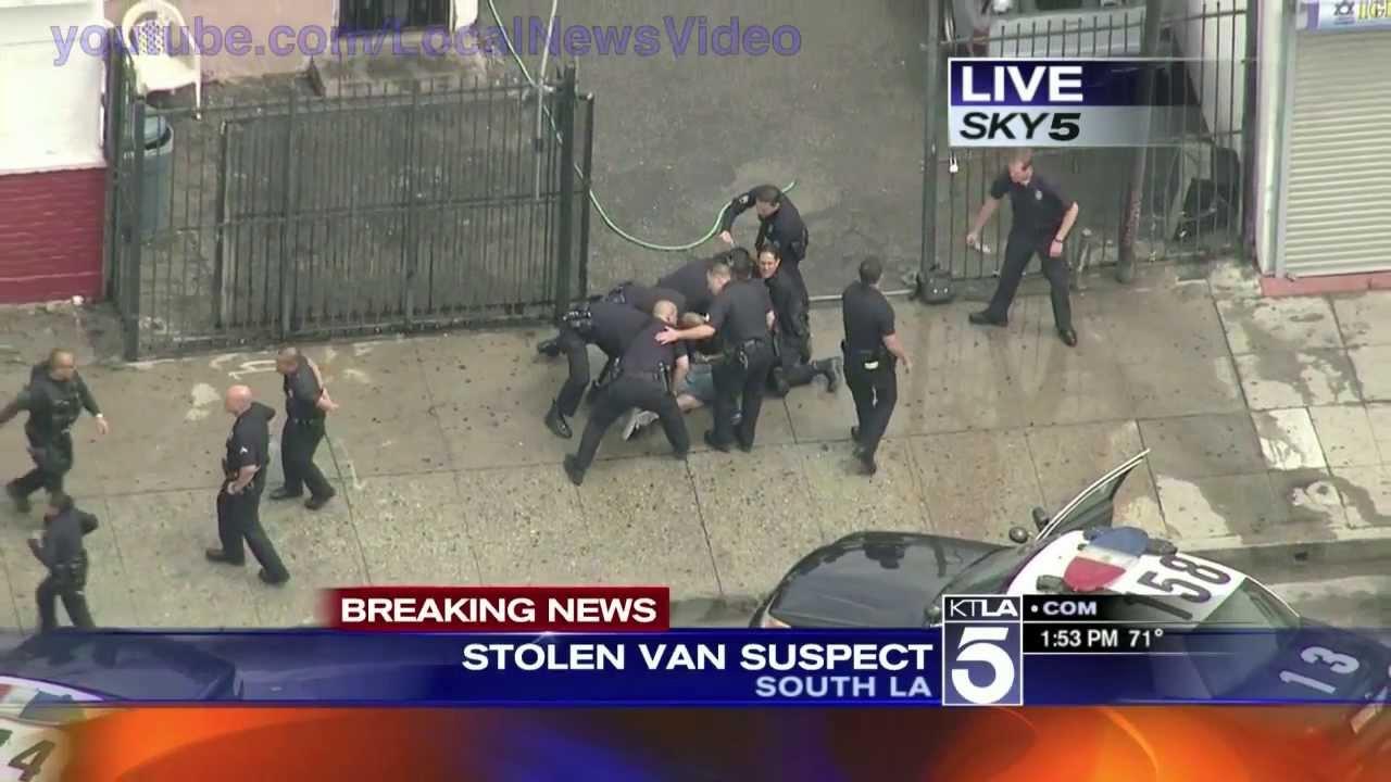 VIDEO – Trakā policijas pakaļdzīšanās! (Wild police chase – South Los Angeles, CA)