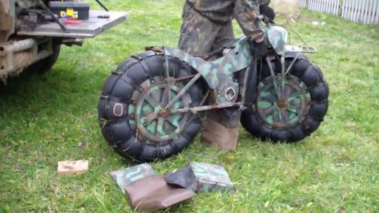 VIDEO – Visur ejošais krievu motocikls. (Go-Anywhere Russian Motorbike)