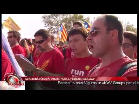 """VIDEO – Barselonā tūkstošiem kataloņu dzied """"Saule, pērkons, Daugava"""""""
