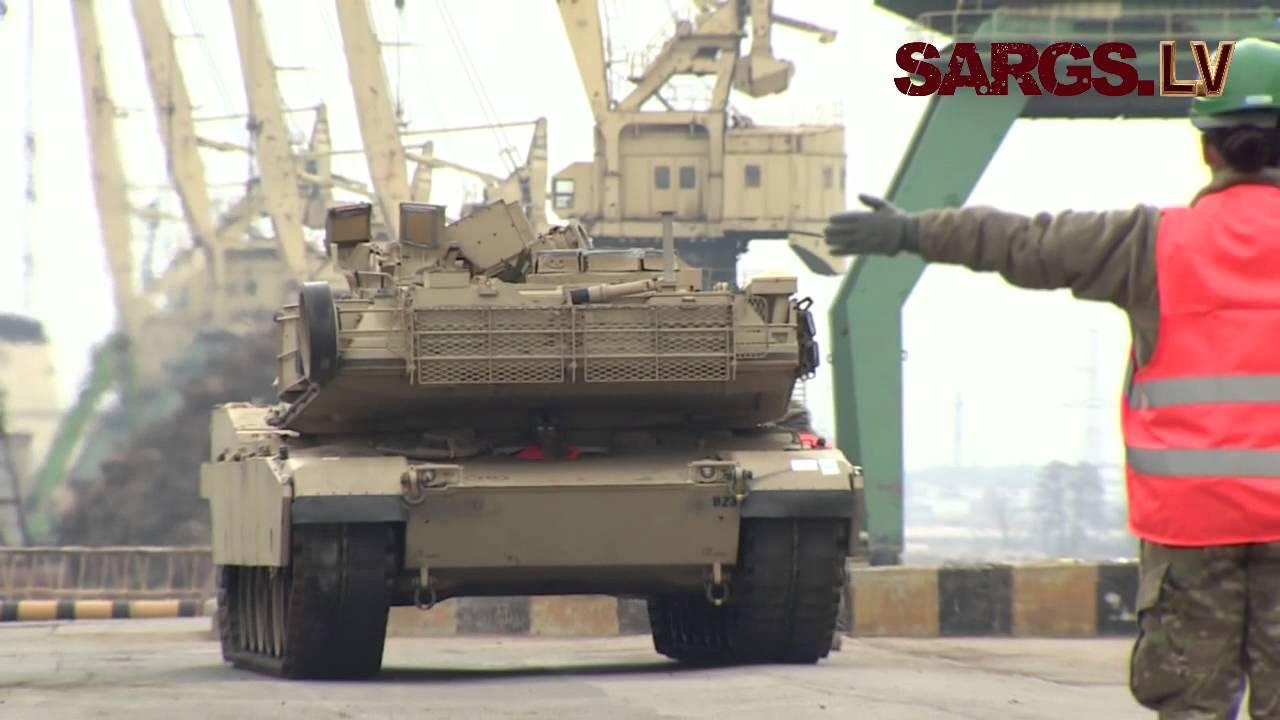 VIDEO: Kā Latvijā šodien no rīta nonāca ASV tanki!? (USA tanks and other military equipment in Latvia!)