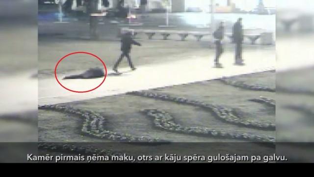 VIDEO: Trīs salašņas Rīgas centrā nežēlīgi atspārda vienu jaunieti! Policija rīkojas operatīvi un aiztur noziedzniekus!