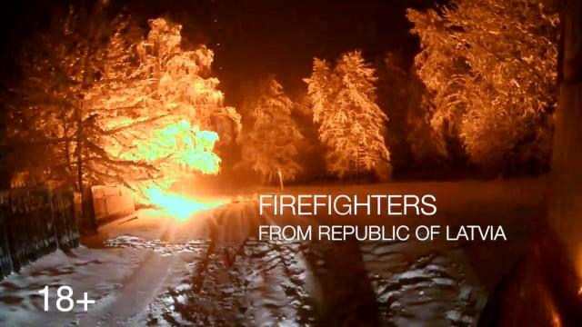 VIDEO: Glābēju darbs ugunsdzēsēja acīm! (Latvian fireman in work with GoPro!)