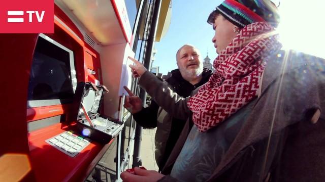 VIDEO: Intars Busulis ar UFO māca, kā pareizi lietot bankomātu!