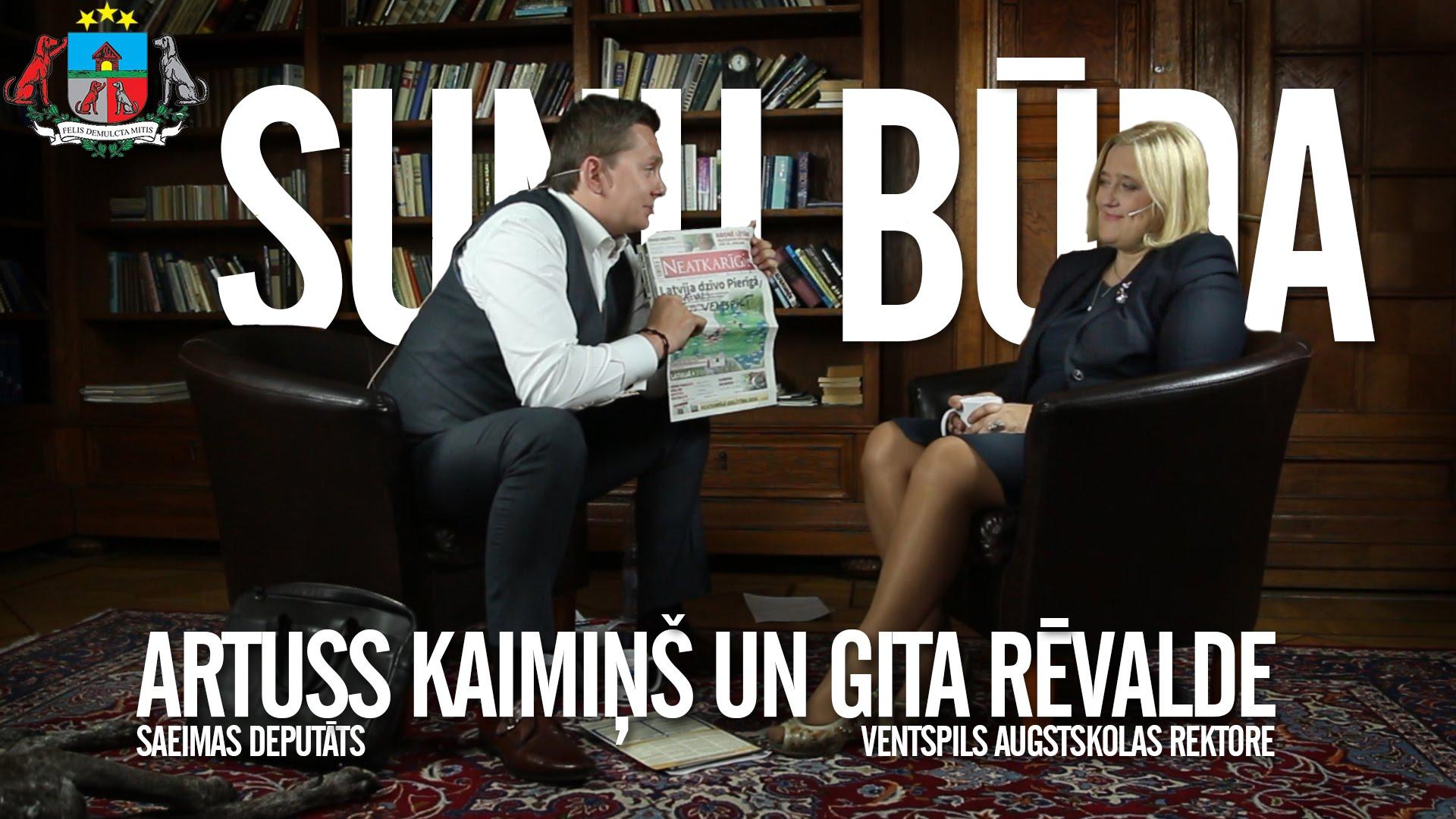 """VIDEO: Ēterā atkal """"Suņu būda"""". Uz sarunu aicināta Ventspils Augstskolas rektore Gita Rēvalde."""