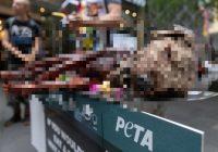 """Vegāni Sidnejā grilē """"suni"""" uz ielas, lai protestētu pret gaļas ēšanu"""