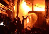 VIDEO: Dakas ugunsgrēkā Bangladešas galvaspilsētā iet bojā vismaz 70 cilvēku, liesmas pilnībā pārņem blīvi novietotās ēkas
