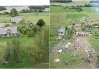 Ģimene lūdz pēc palīdzības – spēcīgs tornado noposta zemnieku saimniecību, kas mantota jau 4. paaudzē